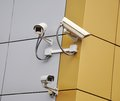 CCTV security cameras Stock Photos