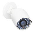 CCTV security IP camera, closeup photo, isolated object on white