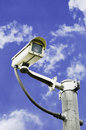 Cctv security in the sky as a backdrop Royalty Free Stock Photography