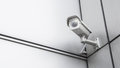 CCTV surveillance security camera video equipment in tower home and house building on wall for safety system area control outdoor