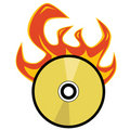 Cd burning Royalty Free Stock Image
