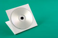 Cd case photo of on green background Royalty Free Stock Photography