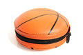 Cd case in shape of basket ball on a white background Royalty Free Stock Photo