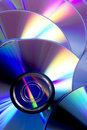 Cd closeup of a pile of rom and dvd Royalty Free Stock Photos