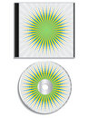 Cd and cover burst design Royalty Free Stock Photos