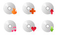 Cd disc burner music icons vector Royalty Free Stock Photo