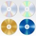 Kompaktný disk disk vektor sada