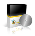 Cd and dvd box template Stock Photography