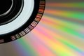 Cd or dvd close up a shot of a a Royalty Free Stock Photos