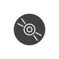 Cd, dvd compact disc icon vector Royalty Free Stock Photo