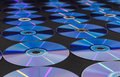 Cd or dvd disc over black background Royalty Free Stock Photos