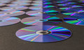 Cd or dvd disc over dark gray background Royalty Free Stock Images