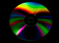 Cd and dvd disk on black background Stock Photography