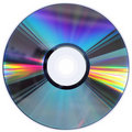 CD / DVD disk isolated on White Stock Photography