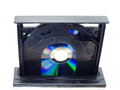 Cd or dvd drive the device records and data for computers Royalty Free Stock Image