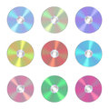 Cd, dvd isolated  icon. Compact disc realistic sign Royalty Free Stock Photo