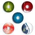 CD & DVD label christmas designs 2 Royalty Free Stock Photo