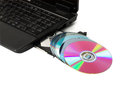 CD/DVD optical drive open cd-rom Stock Photos