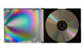 Cd or DVD in plastic case, isolated Stock Images