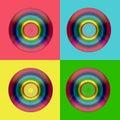 CD DVD rainbow