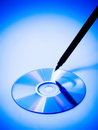 CD/DVD writing Stock Photo