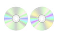 Cd illustration of two compact disks Stock Image