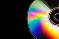 Cd isolated in black background Royalty Free Stock Photos