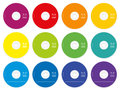 CD Labels Colored Template
