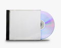 Cd in the open box on white background Royalty Free Stock Photography