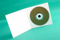 Cd photo of on green background Royalty Free Stock Image