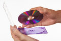 CD-ROM in the box in hand Royalty Free Stock Photo
