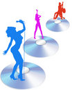 Cd singers and dancers vector Stock Photography