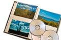 CD y álbum de las fotos del paisaje Fotografía de archivo