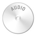 CDROM SILVER AUDIO Royalty Free Stock Images