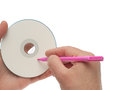 Cdrom writable Royalty Free Stock Photo