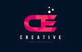 CE C E Letter Logo With Purple...