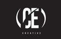 CE C E White Letter Logo Desig...