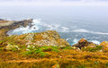 Cean coast in tranquil cloudy day galicia Royalty Free Stock Photography