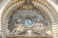 Cec palace retro detail on in bucharest romania the was built in and is now a museum Royalty Free Stock Photos