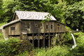 Cedar creek grist mill Royaltyfria Foton
