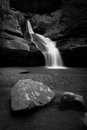 Cedar Falls in B/W Stock Image