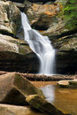 Cedar falls in the hocking hills a waterfall flowing with spring rains ohio s state park Royalty Free Stock Photo