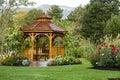 Cedar Gazebo Backyard Garden Park Royalty Free Stock Photo