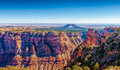 Cedar mountain na opinião do deserto grand canyon o arizona Imagem de Stock
