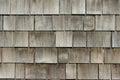 Cedar shake shingles on roof Royalty Free Stock Photo