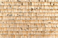 Cedar shingle wall exterior Royalty Free Stock Photos