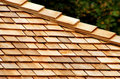 Cedar Shingles Stock Photo