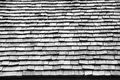 Cedar wooden roof tile black and white Stock Image