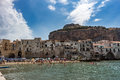 Cefalù - Italy. people at beach Royalty Free Stock Photo