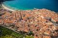 Cefalu coast and its orange roofs Royalty Free Stock Photo